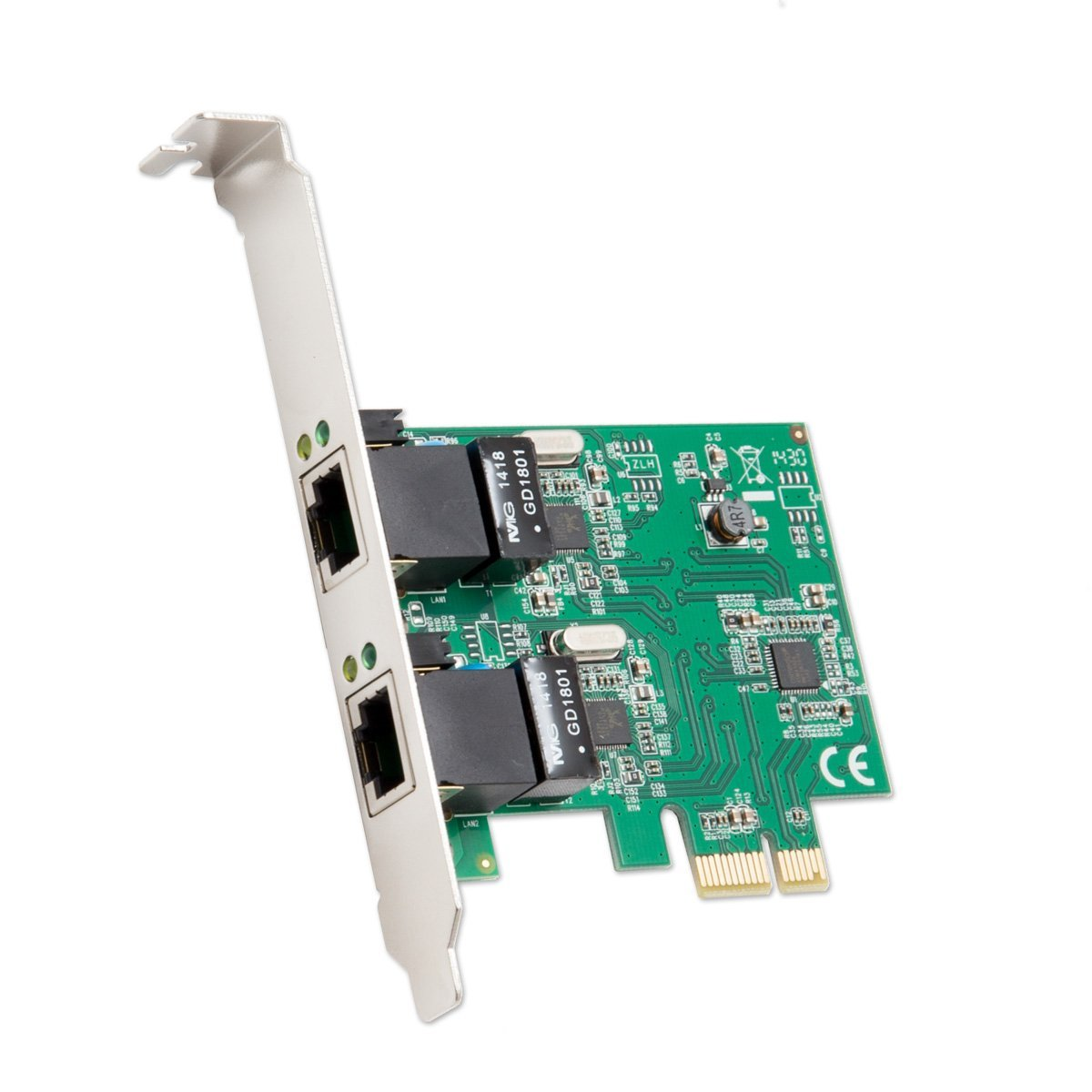 2 Port Gigabit Ethernet Pci E X1 Network Card