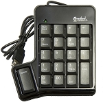 USB 2.0 Numeric Keypad with Extra Thumb ôSpaceö Key, 20-Key with æ00Æ Key