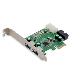 2 Port USB 3.0 and USB 3.0 19 Pin Int. Header PCI-e 2.0 x1 Card