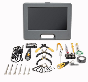 56 Pieces Computer Electronics Tool Kit with Soldering Tool