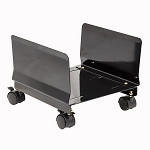 Steel PC Stand for ATX Case with Adj. Width and 4 Caster wheels