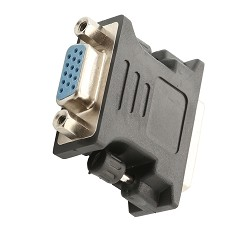 DVI-I Male to Analog VGA Female Connector Converter