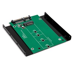 "M.2 NGFF SSD to SATA III Adapter with 3.5"" Drive Bracket"